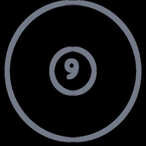 Ball nine circle stroke Transparent PNG