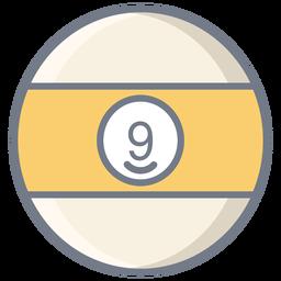 Ball neun Streifen flach