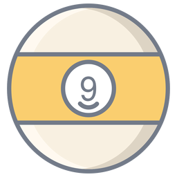 Bola nueve raya plana