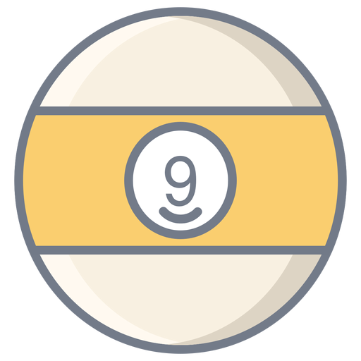 Ball nine stripe flat Transparent PNG
