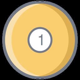 Ball einen Kreis flach