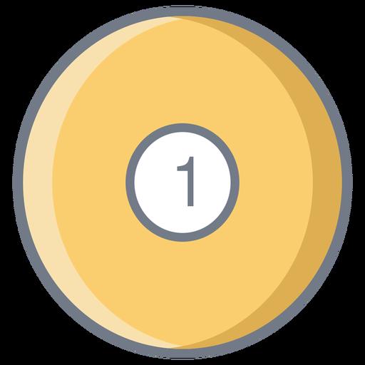 Ball one circle flat Transparent PNG