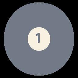 Silhueta de uma bola de círculo