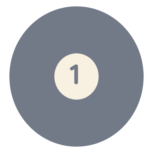Ball one circle silhouette Transparent PNG