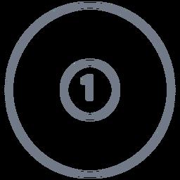 Golpe de bola de un círculo