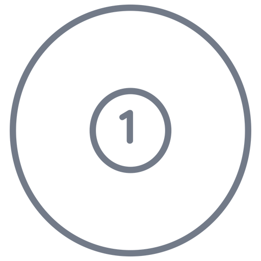 Ball one circle stroke Transparent PNG
