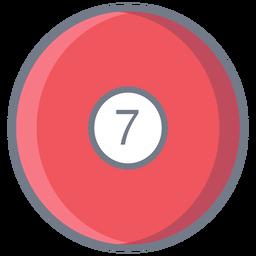 Bola siete círculo plano