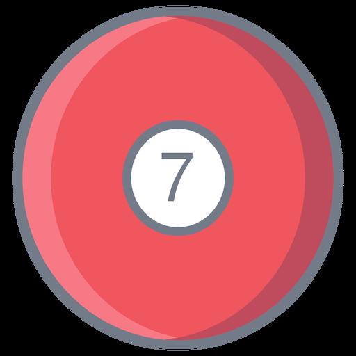 Bola sete círculo plano Transparent PNG