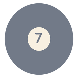 Ball seven circle silhouette