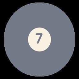 Bola siete círculo silueta