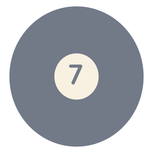Ball seven circle silhouette Transparent PNG