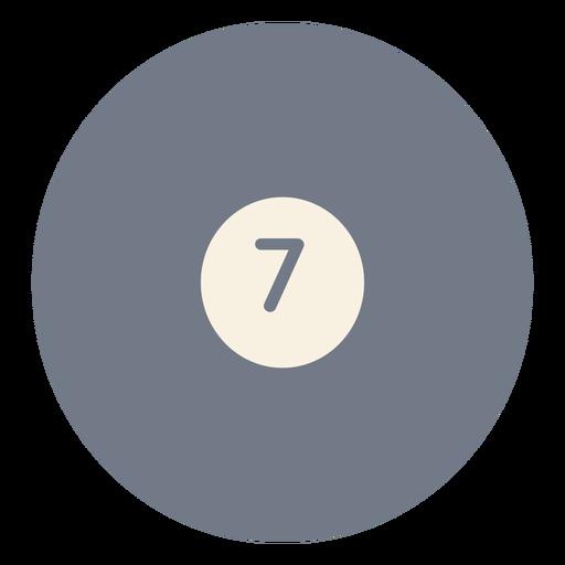 Silhueta de círculo sete bola Transparent PNG