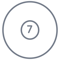 Ball sieben Kreisstrich