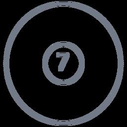 Bola siete círculo trazo