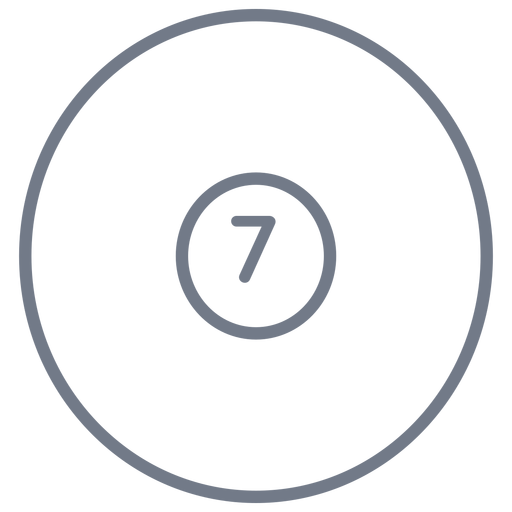 Ball seven circle stroke Transparent PNG