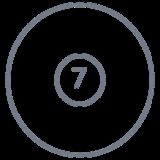 Bola, sete, círculo, apoplexia Transparent PNG