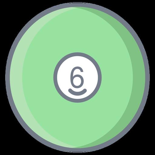Bola seis círculo plano Transparent PNG