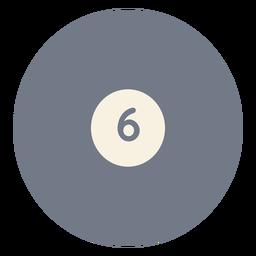 Ball sechs Kreis Silhouette