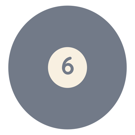 Ball six circle silhouette Transparent PNG