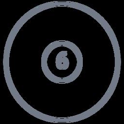 Bola, seis, círculo, apoplexia
