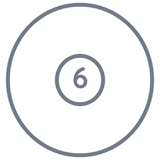 Ball six circle stroke Transparent PNG