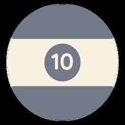 Ball zehn Kreis Streifen Silhouette