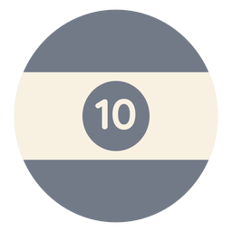 Bola diez círculo raya silueta