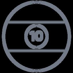 Bola diez rayas círculo trazo