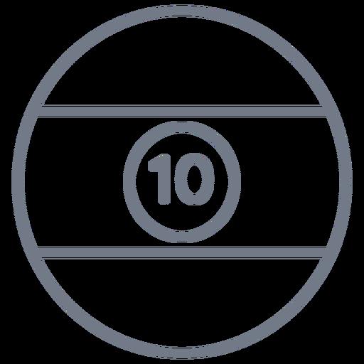 Golpe de círculo com dez bolas Transparent PNG