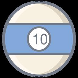 Ball zehn Streifen flach
