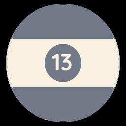 Bola treze silhueta de faixa de círculo