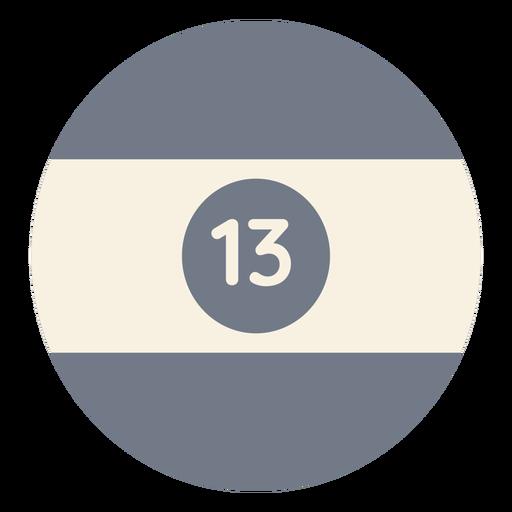 Bola treze silhueta de faixa de círculo Transparent PNG