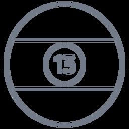 Ball thirteen stripe circle stroke