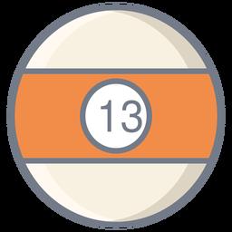 Ball thirteen stripe flat