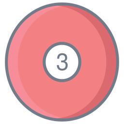 Ball three circle flat