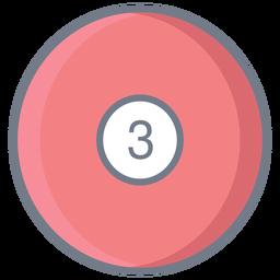 Bola três círculo plano