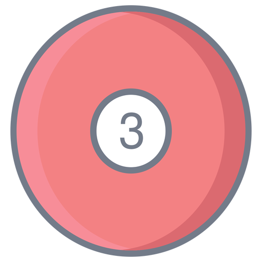 Ball three circle flat Transparent PNG