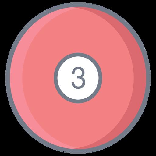 Bola três círculo plano Transparent PNG
