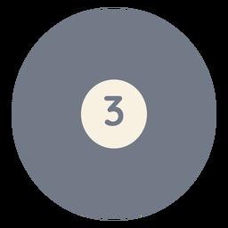 Silhueta de círculo três bola