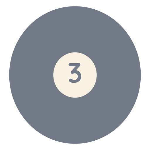 Ball three circle silhouette Transparent PNG