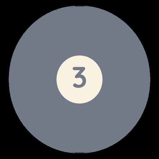Silhueta de círculo três bola Transparent PNG