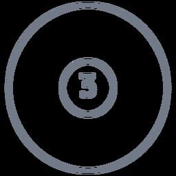 Bola, três, círculo, apoplexia