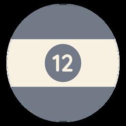 Ball twelve circle stripe silhouette