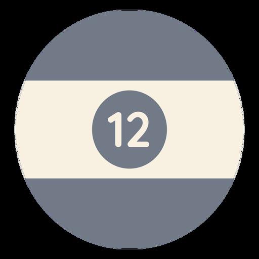 Bola, doze, círculo, listra, silueta Transparent PNG