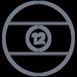 Ball twelve stripe circle stroke