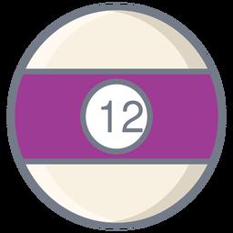 Ball twelve stripe flat