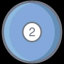 Bola dois círculo plana