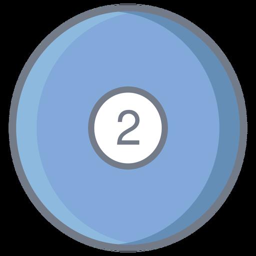 Bola dois círculo plana Transparent PNG