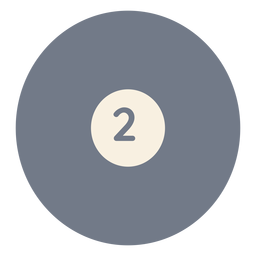 Bola, dois, círculo, silueta