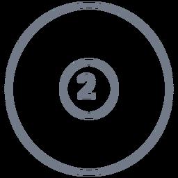 Ball two circle stroke